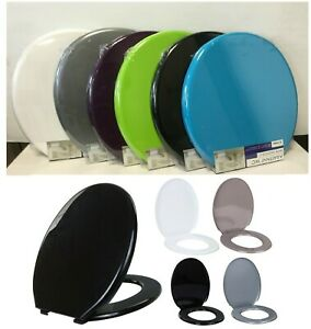 """18"""" Oval Shape Universal Fit Toilet Seat Bathroom WC Polypropylene With Fixing"""
