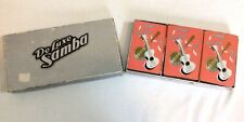Mid Century Guitar Banjo Triple Deck Russell Playing Cards DeLuxe Samba Vintage