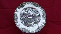 """VTG JOHNSON BROTHERS THE FRIENDLY VILLAGE """"THE STONE WALL"""" 10-1/2"""" PLATE"""
