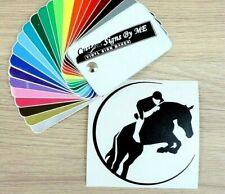 Jockey Horse Jump Car Sticker Vinyl Decal Adhesive Window Trailer Wall Laptop