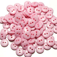 100PCs Round Scrapbooking Embellishment 2 Holes Resin Candy Color Sewing Buttons