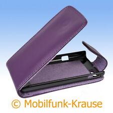 Flip Case Etui Handytasche Tasche Hülle f. Sony Xperia Miro (Violett)