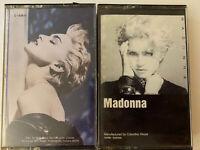 Lot Of 2 Madonna Cassette Tapes True Blue Self Titled Sire Rare Version Original