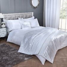 Diamond Velvet Super King Duvet Cover Diamante Bed Quilt Cover Bedding Set White