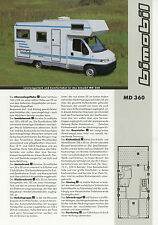 Prospekt Bimobil MD 360 Reisemobil 2002 Broschüre Wohnmobil Peugeot Boxer Ducato