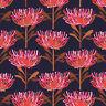 JOCELYN PROUST Tree Waratah Print Allover Quilting Fabric Cotton FQ Black Pink