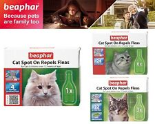 Beaphar Spot On Flea Repel Drops Treatment 4 12 24 Weeks Protection For Cats