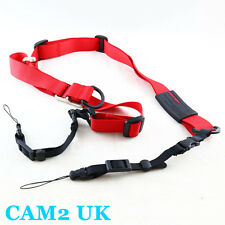 Carry Speed M-sling Camera Neck Strap for Sony NEX A7 Olympus Om-d Samsung Red