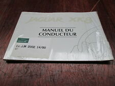 JAGUAR XK 8  OWNER  HAND BOOK ( FRENCH  ) GENUINE NEW