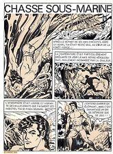 BOB LEGUAY MAGNIFIQUE PLANCHE ORIGINALE TIM L'AUDACE ANNEES 1950 PAGE TITRE