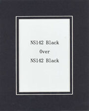 Pack of 20 11x14 Black/Black Picture Double Mat for 8x10 Photo + Backing + Bags