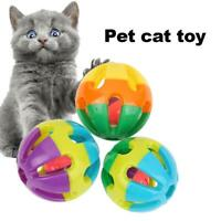 1/18 PCS Puppy Cat Kitty Play Round Ball With Bell Chase Rattle Cute Toys Gift