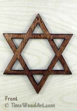 Star Of David, Baltic Birch Wood for Wall Hanging or Ornament, Item S5-12