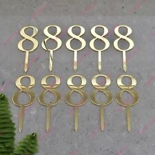 10 x Number 8 Birthday Acrylic Gold Mirror Cupcake Topper