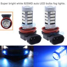 2x 92SMD Fog Light H11 H9 H8 Blue LED Bulb For Chevrolet Cruze Equinox 1800LM