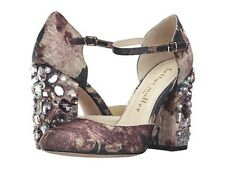 Bettye Muller Pump Heels Shoes Bejeweled High Heels Charcoal Multi Color 10M