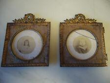 Paire de cadres porte photos Napoléon III