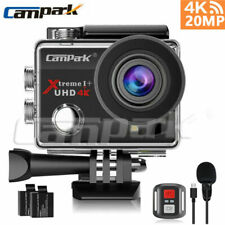 Campark 4K Action Camera 20MP EIS WiFi Waterproof Camera w/Microphone as gopro