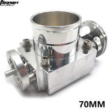 "70mm 2.75"" Throttle Body Universal Alloy Aluminum Racing CNC Billet Intake Silve"