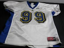 RAWLINGS ADULT XL WHITE #99 FOOTBALL JERSEY ~ 4657