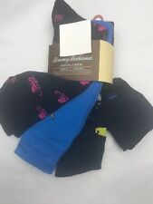Tommy Bahama Mens Socks 4 Pairs Black Blue Octopus Martini Polyester Blend NEW