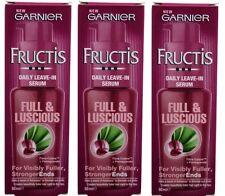 3 x Garnier Fructis Full and Luscious Daily Leave-In Serum 50ml 100% Brand New