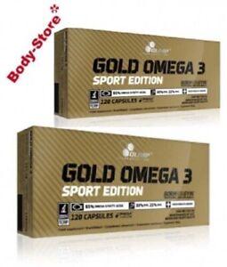 (98,88€/1kg) 2 X Olimp Omega 3 Gold Sport Edition 120 Kapseln Fettsäuren 302,4g