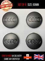 Set Of 4 Audi Alloy Wheel Hub Centre Caps Badges 60mm A1 A3 A4 A5 A6