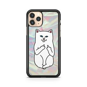Blue Eyed White Cat Animal Middle Fingers Cool Luscious Colours Phone Case Cover