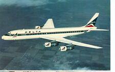 DELTA AIRLINES-DOUGLAS DC-8 FANJET-CARRIES 135 PEOPLE-(8-73)-(MP-920)