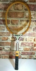 """Vintage WILSON """"Champ"""" JIMMY CONNORS Wooden Tennis Racket. Size LM4 VINTAGE RED"""