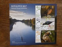 NEW ZEALAND 2017 ROYALPEX NATIVE BIRDS 3 STAMP MINI SHEET MINT STAMPS MNH