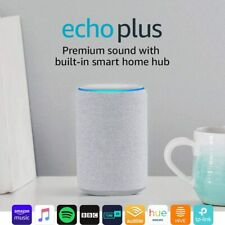 Amazon Echo Plus Premium sound with a built-in smart home hub - Sandstone Fabric