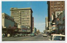 First Street Cars Drug Store San Jose California 1950s postcard