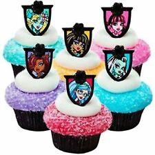 Monster High 24 Birthday Cupcake Rings Bag Fillers Party Supplies Favors Prizes