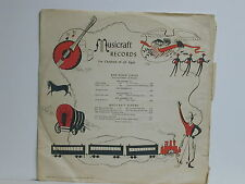 """Musicraft - Songs Of America, Red Robin RR5, 1946 10"""" 78 rpm mono record"""