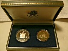 1988 Seoul, Korea, Summer Olympics Commemorative Silver Coins, Two Coins