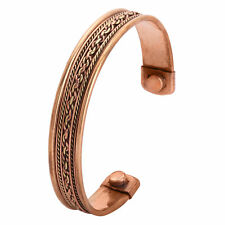 Mens Bio Magnetic Pure Copper Torque Bangle-Bracelet Arthritis Pain Relief