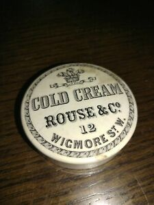 ROUSE & CO 12 WICKMORE ST W. COLD CREAM POT LID