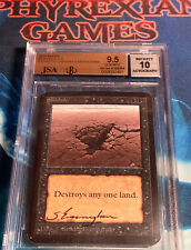 MTG ALPHA SINKHOLE BGS 9.5 pop1 artist signed (pop18 in 9.5 total) BAS 10 magic