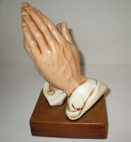 "Vintage Atlantic Mold Ceramic Praying Hands 9.75"" tall Very Good"