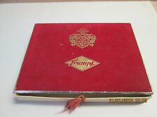 Ancient Trump Chocolates Box with Red Velvet Cover and Gold lettering.