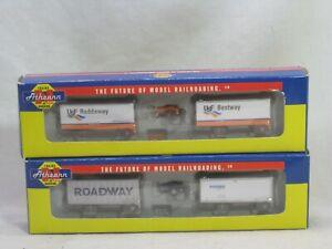2 Athearn model railroading 10821 10824 Roadway Reddaway Bestway N scale lot
