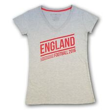 England Football 2016 Women's V-Neck Tee T-shirt NWT