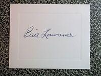 BILL LAWRENCE (1906-1997) AUTOGRAPHED 3x5 Card MLB Baseball 1932 Detroit Tigers