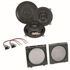 Crunch DSX52 2 Wege Lautsprecher Boxen System Einbauset für Golf 2 Türen vorne