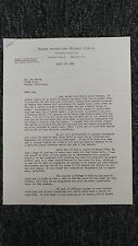 George Weiss Autographed Signed Letter April 10th, 1941 JSA LOA