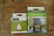 COMPACT ARMY STYLE FESTIVAL STOVE MINI CAMPING COOKER & 12 SOLID FUEL BLOCKS