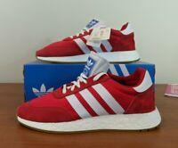 Adidas I-5923 Iniki Runner Men's Sneakers Boost Red White BD7811 Size 8.5 - 13