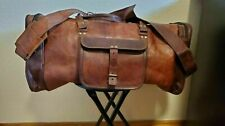 Genuine sexy Leather Overnight Travel Duffel Gym Weekend Vintage Luggage Bag
